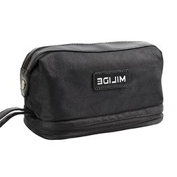 Deluxe Black Canvas Men & Women Toiletry Bag – Sturdy & Du
