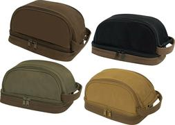 Deluxe Canvas Travel Kit Two Tone Dopp Toiletry Bag with Car