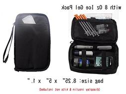 Chill Pack Diabetic Organizer Cooler Bag-for Insulin, Testin