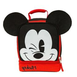 GDC Disney Mickey Mouse Dual Lunch Kit, Lunch Box Bag for ki