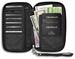 Travel Document Organizer, Passport Holder and Travel Wallet