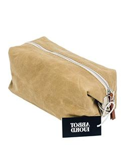 dopp kit water resistant waxed