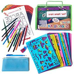 Drawing Stencil Set for Kids  Fun & Educational Toy. Perfect