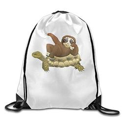 Drawstring Bags Gym Bag Travel Backpack, Be Yourself Alien W