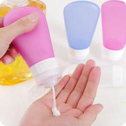 Durable Refillable Silicone Bottle Travel Kit Lotion Bath Sh