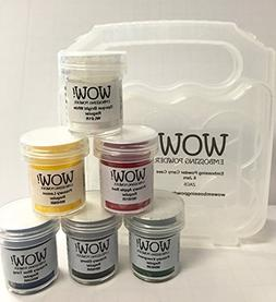WOW! Embossing Powder Primary Colors 6-Pack Kit and Clear Ca