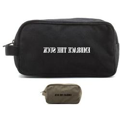 Army Force Gear Embrace the Suck Canvas Shower Dopp Kit Trav