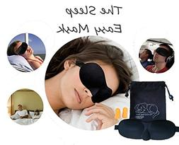 Sleep Eye Mask 3D Breathable Blindfold Kit | Black | Storage