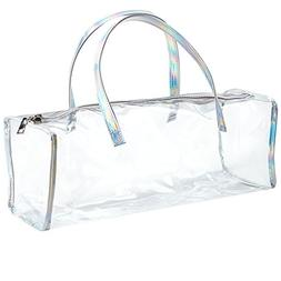 Family Size Travel Toiletry Case - Clear PVC Luggage Organiz