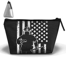 firefighter american flag bag pouch