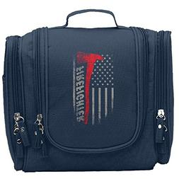 JCBaa Firefighter Axe Red Line Flag Makeup Bag/Cosmetic Bags