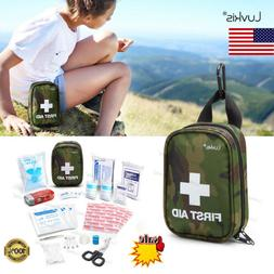 First Aid Kit Emergency Bag Survival Safety Backpack Home Tr