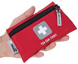 First Aid Kit – 66 Pieces – Small and Light Bag - Packed
