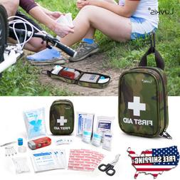 First Aid Kit Medical Emergency Travel Car Medicine Auto Hom