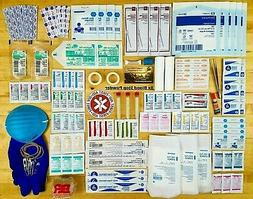 FIRST AID KIT FAMILY MEDICAL PACK WOUND SURVIVAL BUG OUT BAG