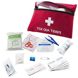 64 Pieces First Aid Kit Medical Survival Bag-Portable Emerge