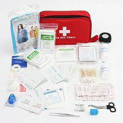 Alritz First Aid Kit, 183 Pieces Medical Supplies Portable E