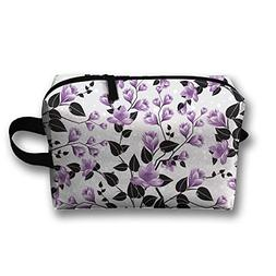 RONG FA Floral Pattern Portable Travel Makeup Bag,Storage Ba