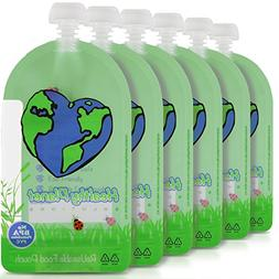 Healthy Planet Solutions Reusable Food Pouch Clear Plastic S