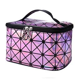 Functional Cosmetic Bag Pu Leather Travel Necessaries Makeup