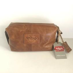 Rawlings Genuine Leather Travel Toiletry Kit Brown Bag Retai