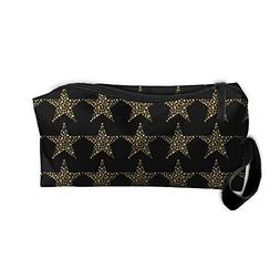 Gold Star Makeup Bag Zipper Organizer Case Bag Cosmetic Bag