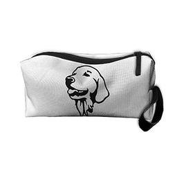 Golden Retriever Dog Face Makeup Bag Zipper Organizer Case B
