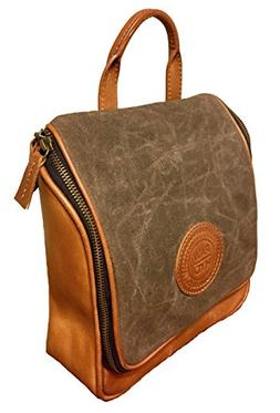 Full Grain Leather & Waxed Canvas Hanging Unisex Toiletry Ki