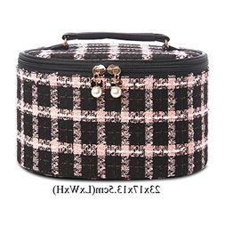 Grid Cosmetic bags Large capacity Girl heart Cosmetics stora