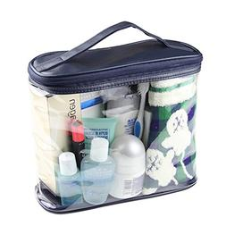 halova transparent toiletry bag clear travel makeup pouch su