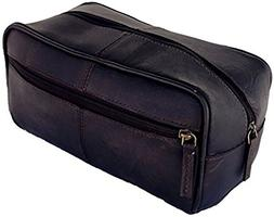 Prastara Handmade Buffalo Genuine Leather Toiletry Bag Dopp