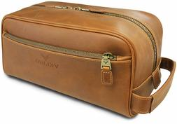 Velino Handmade Genuine Buffalo Leather Unisex Toiletry Bag