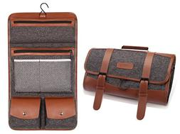 Hanging Travel Toiletry Bag Pack It Flat Toiletry Kit,Rugged
