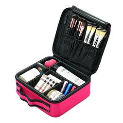 Makeup Case,MONSTINA Makeup Organizer,Travel Adjustable Make
