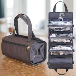 Hanging Toiletry Travel Bag Organizer Roll Up Cosmetic Kit H