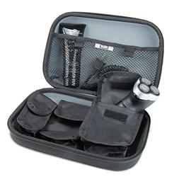 USA Gear Hard Shell Travel Electric Shaving Kit Case with Cu
