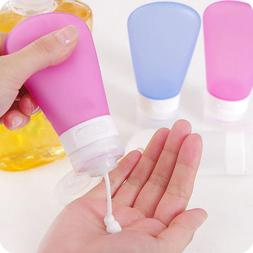 HK- Portable Refillable Silicone Bottle Travel Kit Bath Sham
