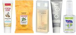 Natural Travel Size Kit includes Burt's Bees facial cleans