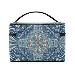 833c0d3f93cc Indian Mandala Cosmetic Bags Travel Make...