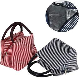 Insulated Lunch Bag, Uniwit 2 PCS Insulated Lunch Tote Coole