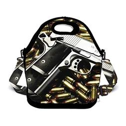 POP MKYTH Insulated Lunch Box - Gun American USA Flag Bullet