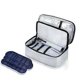 ALLCAMP Insulin Travel Bag with 4 Ice Pack for Diabetic Orga