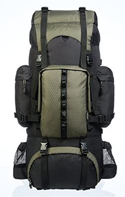 AmazonBasics Internal Frame Hiking Backpack with Rainfly, 65
