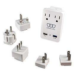 2000W International Travel Adapter Kit - AC Outlets + Quick