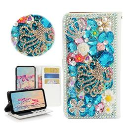 STENES iPhone 8 Plus Case - Stylish - 3D Handmade Bling Crys