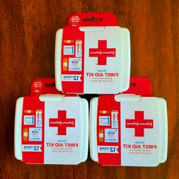Johnson & Johnson First First Aid Kit Travel Size Plastic Ca