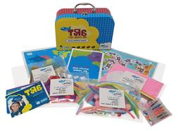 kids travel activity kit - keep kids busy on plane, cafe, ca