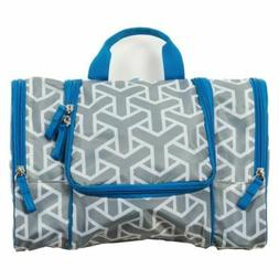Flat Pack Toiletry Kit - Grey/Blue Toiletry Bag / Toiletry C