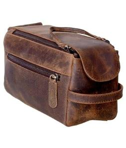Dopp Kit Toiletry Bag Leather Genuine Buffalo Unisex Travel