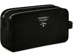 PRADA L'HOMME black toiletry pouch dopp kit travel case shav